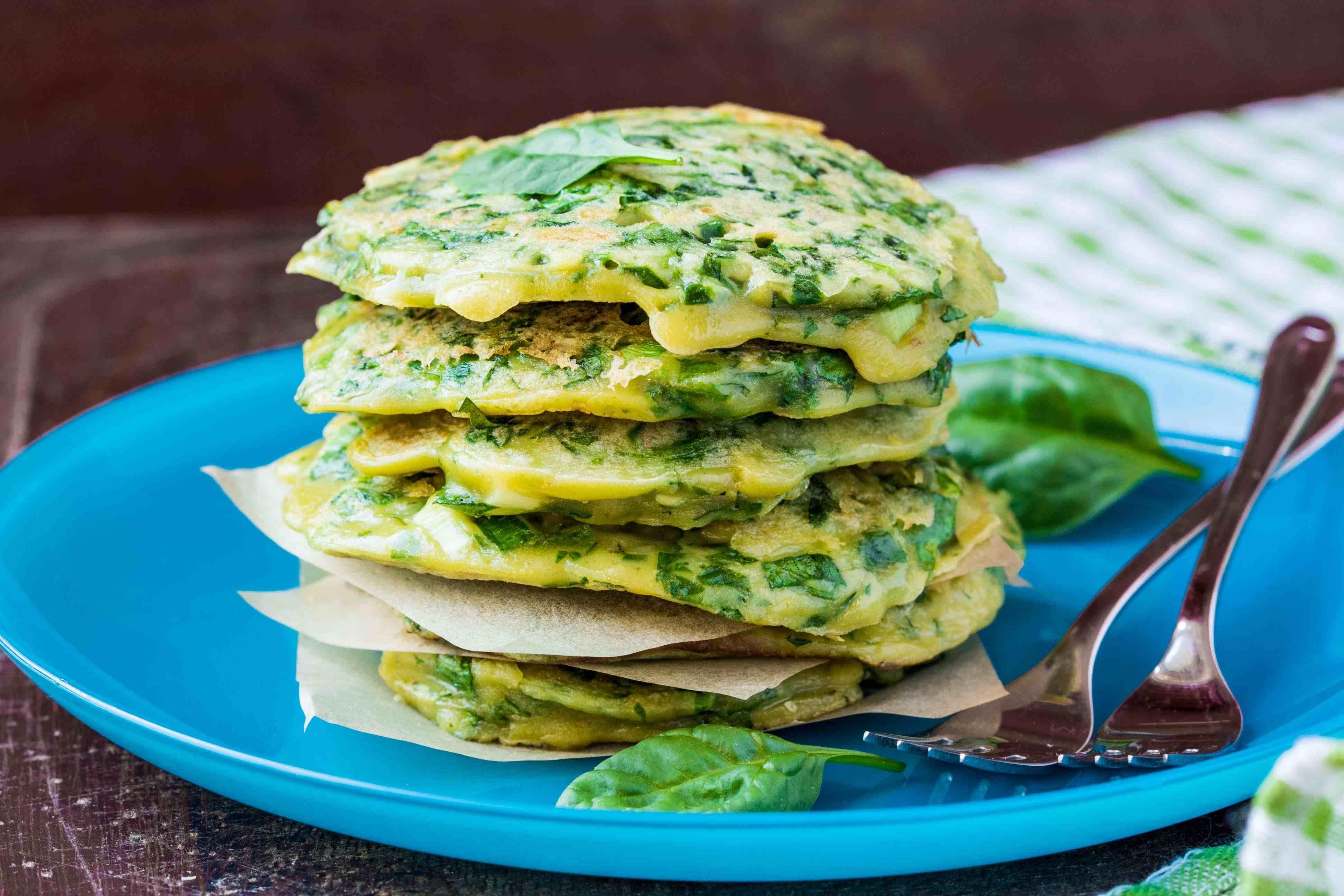 Блинный зеленый торт рецепт