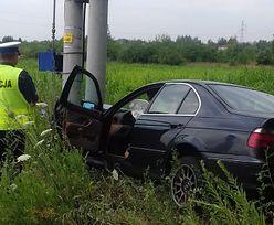 """Brawurowa ucieczka BMW w pobliżu Zduńskiej Woli. Po amfetaminie """"zarobił"""" 72 punkty"""