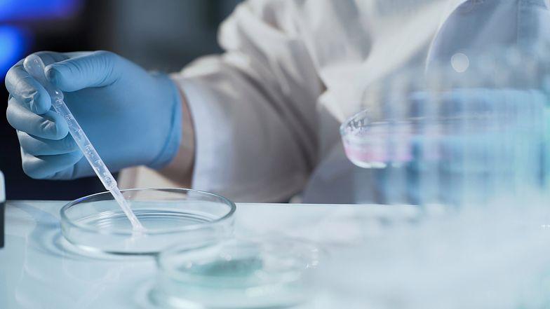 Assistant of reproductive medicine clinic fertilizing egg outside female body