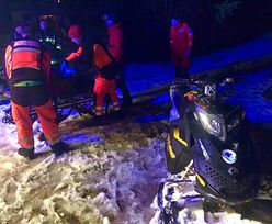 Narciarz przez kilka godzin leżał w głębokim śniegu. Akcja GOPR