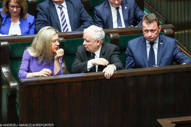 Małgorzata Wassermann, Jarosław Kaczyński i Mariusz Błaszczak. Czy wśród nich jest przyszły marszałek Sejmu?