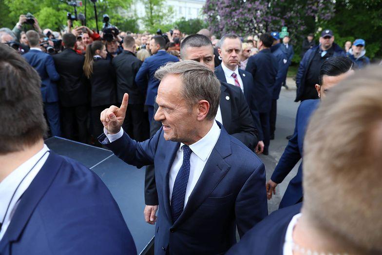 Donald Tusk był w Warszawie także 3 maja