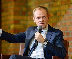 Donald Tusk: gdy widzę pląsy PiS u Rydzyka, to wstydzę się za Polskę