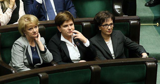 Jolanta Szczypińska, Beata Szydło i Elżbieta Witek