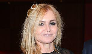 Monika Olejnik w prześwitującej sukience. Wygląda na 60 lat?