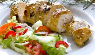 Pieczony kurczak w musztardowym sosie