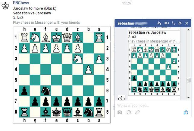 Tajny kod, który pozwoli ci zagrać w szachy na Messengerze