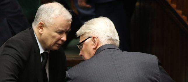 Jarosław Kaczyński i Witold Waszczykowski