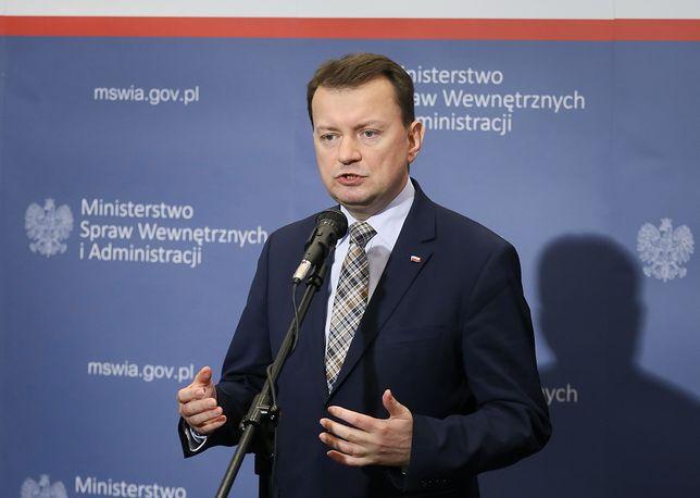 Szef MSWiA Mariusz Błaszczak