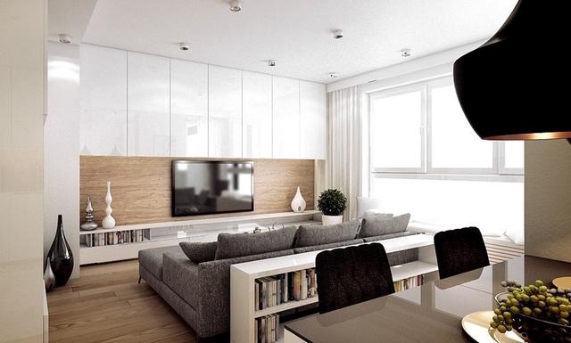 Pomysły na nowoczesny salon: przestrzeń zabudowana - WP Dom