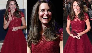 Lady in red! Księżna Kate dawno nie wyglądała tak pięknie
