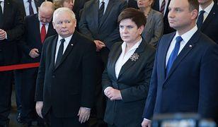 Jarosław Kaczyński, Beata Szydło, Andrzej Duda. Styczeń 2017