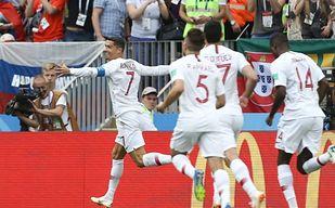 Portugalczycy w opałach. Ronaldo spakował Marokańczyków