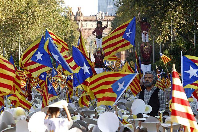 Demonstracje w trakcie Święta Narodowego Katalonii (Diada Nacional de Catalunya) w Barcelonie
