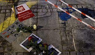 Miejsce aktu samospalenia w Warszawie