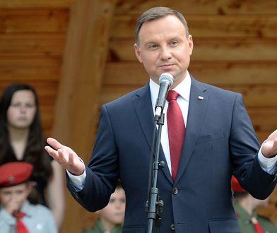 Prezydent Andrzej Duda podczas spotkania z mieszkańcami Buska-Zdroju