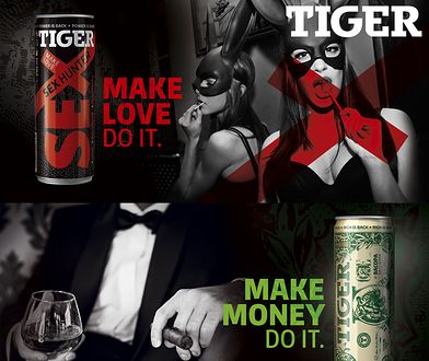 """Czy napój Tiger Sex Hunter promuje """"pornobiznes""""? Stowarzyszenie Twoja Sprawa poluje na tygrysa"""