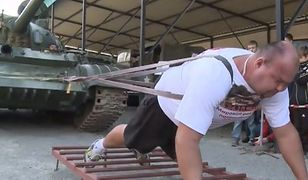 Siłą mięśni wprawił w ruch 37 ton