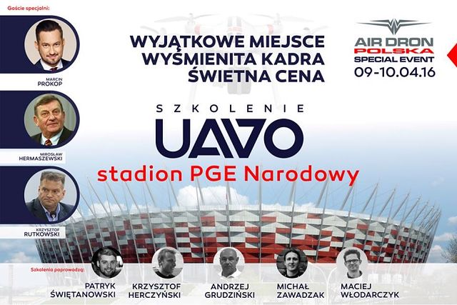 Drony opanowują stadion! Szkolenie na Narodowym. Licencja na drona w Warszawie