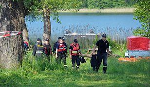 Akcja ratunkowa nad jeziorem