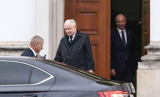 W piątek prezes PiS Jarosław Kaczyński przyjechał do Belwederu na spotkanie z prezydentem Andrzejem Dudą