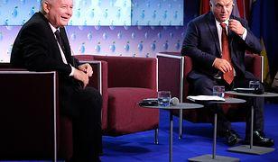Prezes PiS Jarosław Kaczyński i premier Węgier Viktor Orban.
