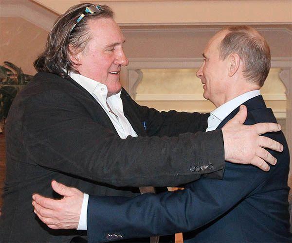 Gerard Depardieu i Władimir Putin