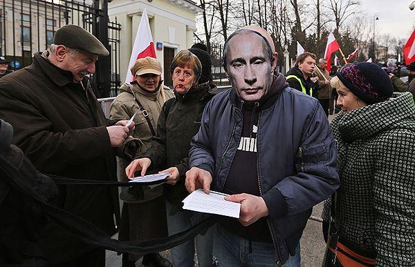 Protest przed ambasadą Rosji