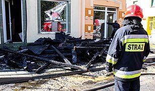 Sklepy spłonęły w centrum Włoszczowy