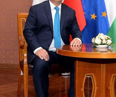 Premier Węgier Viktor Orban podczas wizyty w Polsce