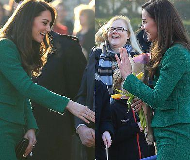 Księżna Kate z wyraźnie zaokrąglonym brzuszkiem?
