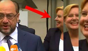 Martin Schulz i Eva Högl podczas konferencji.