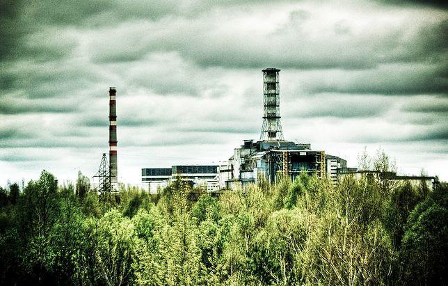 Widok na reaktor w Czarnobylu