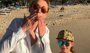 Martyna Wojciechowska z córką na Dominikanie