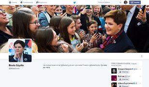 Twitterowe konto premier Beaty Szydło