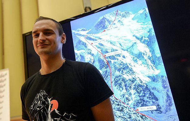 Himalaista Adam Bielecki podczas konferencji nt. próby zdobycia szczytu Nanga Parbat zimą