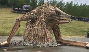 Rzeźba z recyklingu zaskoczyła wszystkich