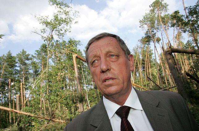 Jan Szyszko podczas wizytacji w jednym z nadleśnictw