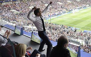 Finał jak z marzeń! Prezydent Francji pijany szczęściem