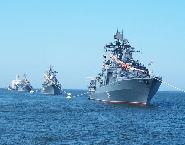 Rosyjskie okręty wojenne Floty Oceanu Spokojnego