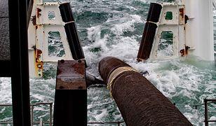 Układanie morskiego odcinka gazociągu Nord Stream.