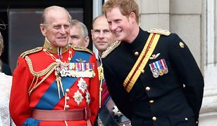<<during Trooping the Colour>> at The Royal Horseguards on June 14, 2014 in London, England.