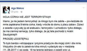 Screen z Facebooka pani Agi Makos