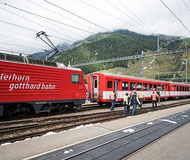 Zderzenie pociągów w Szwajcarii