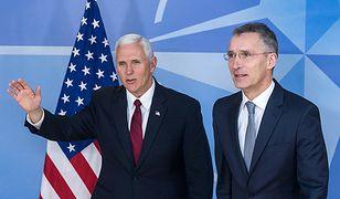 Wiceprezydent USA Mike Pence i sekretarz generalny NATO Jens Stoltenberg.