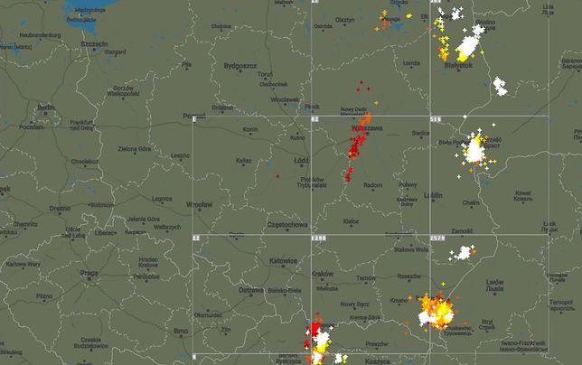 Groźne nawałnice nad Polską. Śledźcie z nami wędrówkę burz po niebie