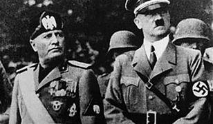Benito Mussolini (po lewej) i Adolf Hitler