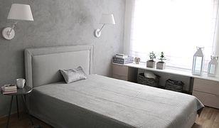 Nowoczesna, romantyczna sypialnia. Zobacz metamorfozę