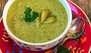 Zupa krem z kiszonych ogórków