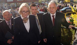 Prezydent Lech Kaczyński i Hanna Foltyn-Kubicka (2009 r.)